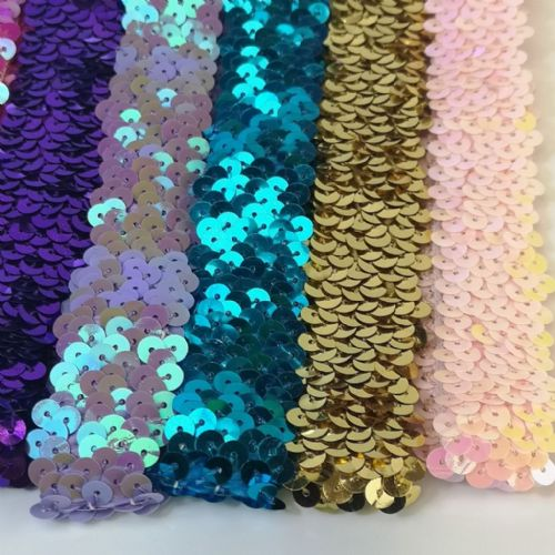 "Stretch Hairband | Sequins  1"" x 6""  In 